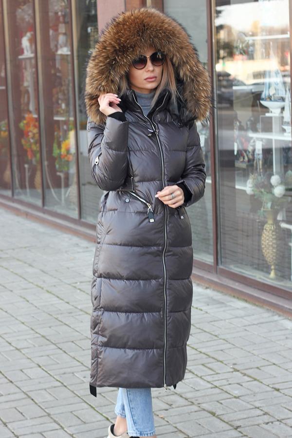 Зимний пуховик mork anhanma черный