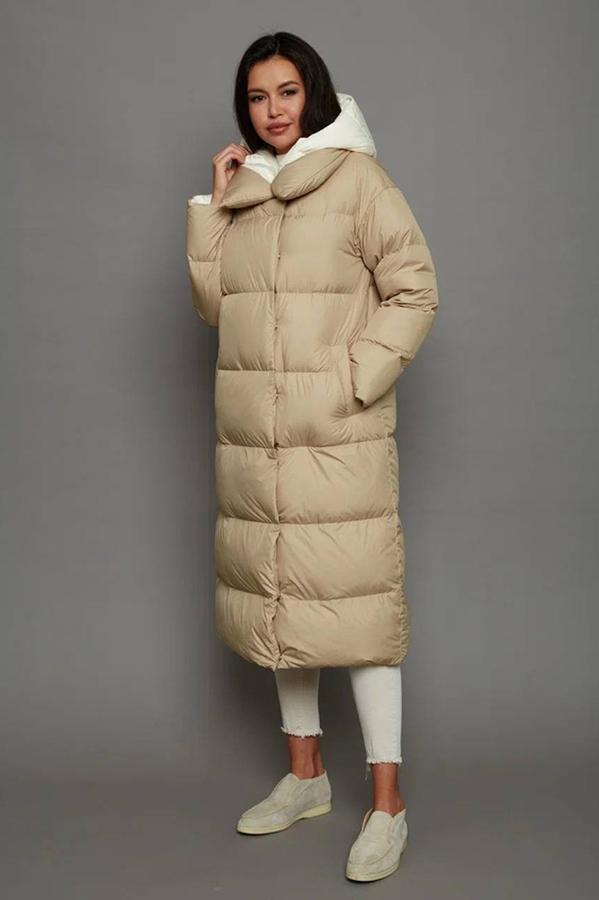 Зимний женский пуховик красивый черный