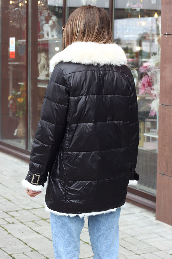 Женская куртка одеяло средней длины
