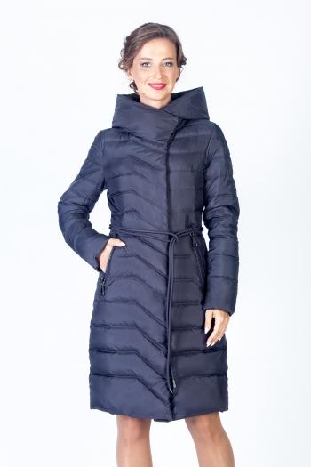 Недорогое пальто больших размеров с поясом